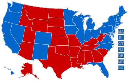 Nerdy Maps Of Red And Blue States  Suck The Rainbow