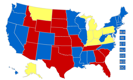 Nerdy Maps Of Red And Blue States Suck The Rainbow - Map of red and blue states